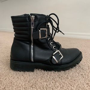 Urban Outfitters Moto Strapped Boots